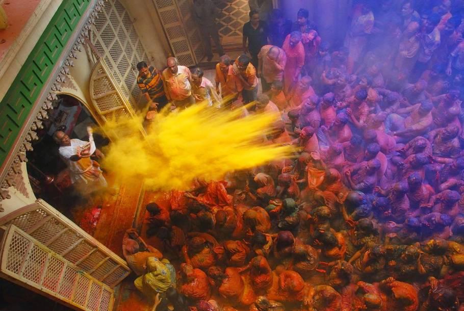 Never ending Holi celebration in Mathura and Vrindavan