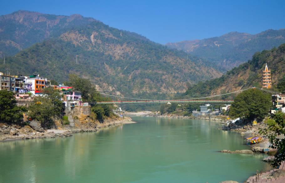 Beautiful view of Laxman Jhula