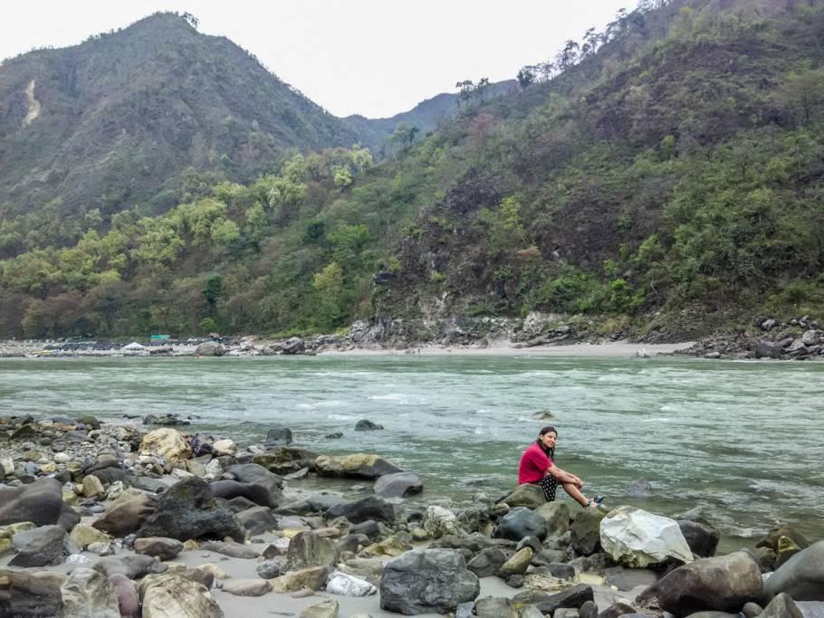 Some alone time with Ganga Ji