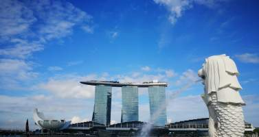 Image of Best places in Singapore in 1 day- Marina Bay, Garden By The Bay, Singapore Flyer and Merlion.