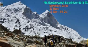 Image of Mt. Bandarpoonch Expedition (6316 M) In India   Shikhar Travels